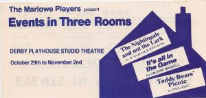 Events in Three Rooms (Three One Act Plays)